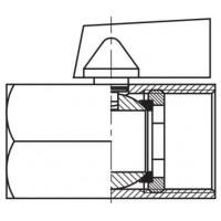 Кульовий міні-кран низького тиску, 2-ходовий, внутрішнє різьблення G (BSP)