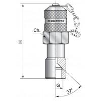 Измерительный адаптер контрольная точка, внутренняя резьба JIC американская