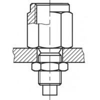 Фитинг для манометра с контрольной точкой через переборку