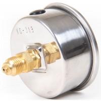 """Манометр, вакууметр глицериновый Ø63 мм с подключением сзади G 1/4"""""""