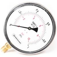 """Манометр, вакуометр гліцериновий Ø160 мм з підключенням знизу G 1/2"""""""