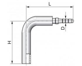 Обтискний ніпель 90° кутовий для вимірювального рукава