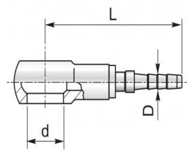 Обтискний ніпель Банджо для вимірювального рукава