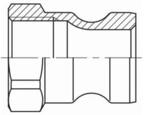 Бетонное соединение с внутренней резьбой BSP F ПАПА