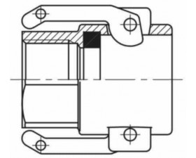Бетонное соединение с внутренней резьбой BSP F МАМА