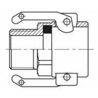Бетонное соединение с наружной резьбой BSP М МАМА