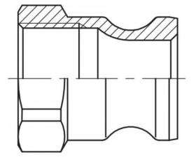 Camlock тип А — cтыковочный штуцер с внутренней резьбой BSPP БРС Камлок