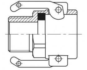 Camlock тип B — стыковочная муфта с наружной резьбой BSPT БРС Камлок