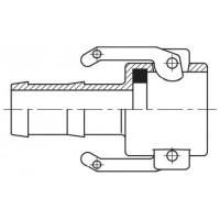 Camlock тип С — стыковочная муфта с хвостовиком под шланг БРС Камлок