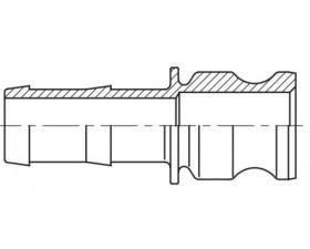 Camlock тип E - cтыковочный штуцер с хвостовиком под шланг БРС Камлок