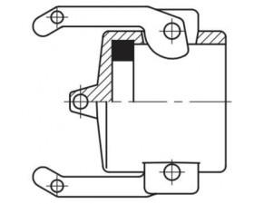 Camlock тип DС - крышка защитная для штуцеров БРС Камлок