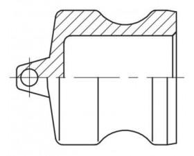 Camlock тип DP - Пробка захисна для муфт БРС Камлок