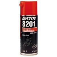 Loctite 8201 (Локтайт 8201) - Универсальное смазочное масло, 5-ти целевой спрей, t-20°/+120°С, 400 мл.