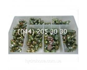 Набір прес-маслянок в пластиковому диспенсері (110 шт. )