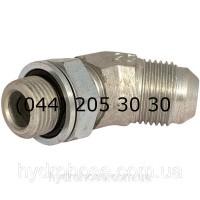 Регулируемый угловой фитинг 45°, JIC x BSP, 7632