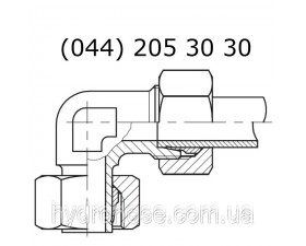 Стояковый угловой фитинг 90°, DKOS x CES 6550