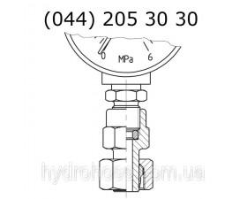 Cоединение стояка с измерительным прибором, 6104