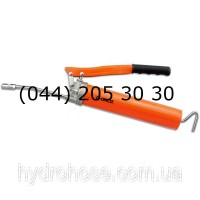 Шприц для смазки рычажного типа со стальной трубкой 150 мм и соединительной муфтой, 413 Бар
