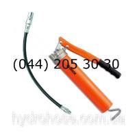 Шприц для смазки рычажного типа с гибким шлангом 300 мм и соединительной муфтой, 413 Бар