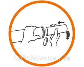 Пневматичний шприц зі сталевою трубкою і муфтою